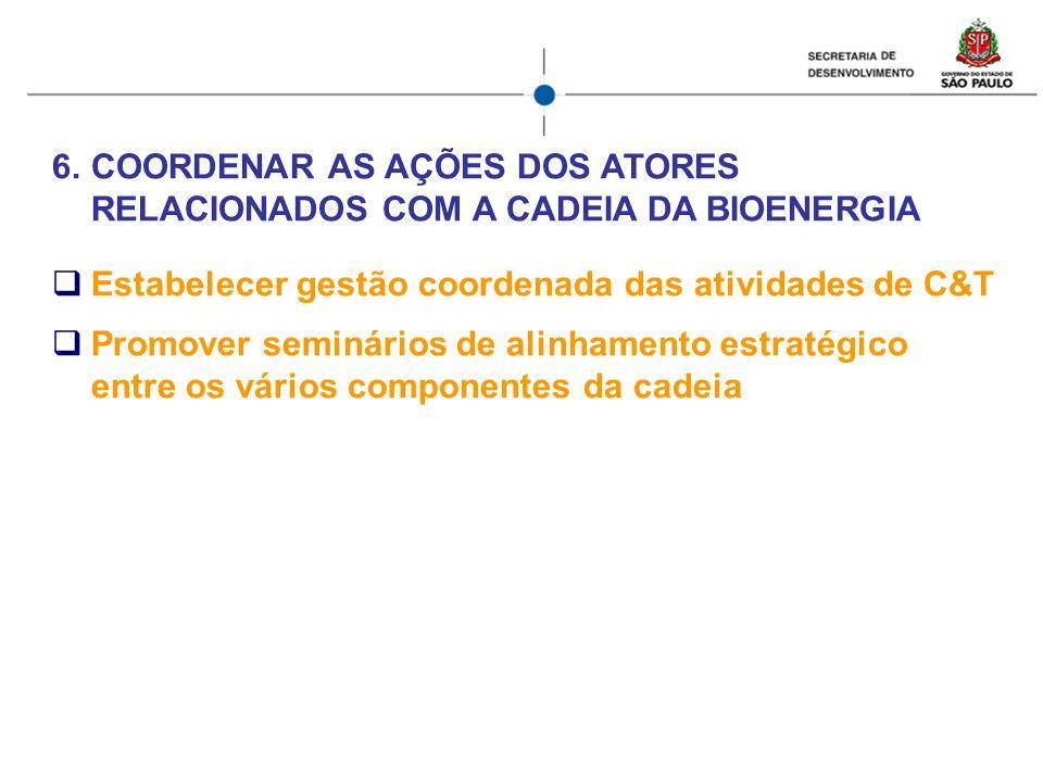 COORDENAR AS AÇÕES DOS ATORES RELACIONADOS COM A CADEIA DA BIOENERGIA