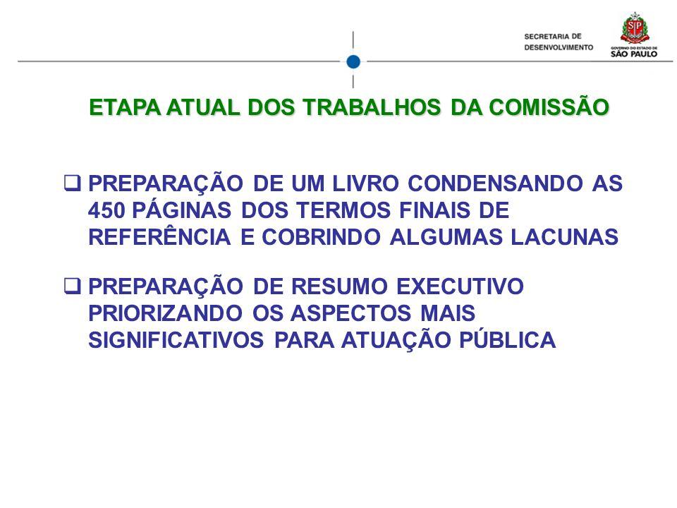 ETAPA ATUAL DOS TRABALHOS DA COMISSÃO