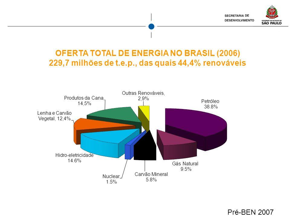 OFERTA TOTAL DE ENERGIA NO BRASIL (2006)