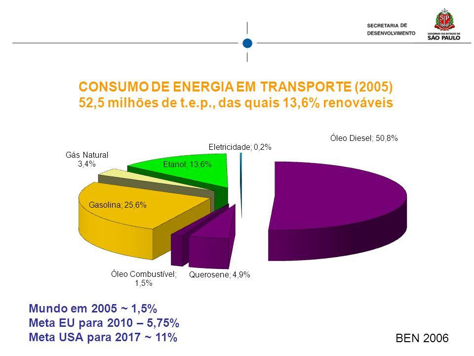 CONSUMO DE ENERGIA EM TRANSPORTE (2005)