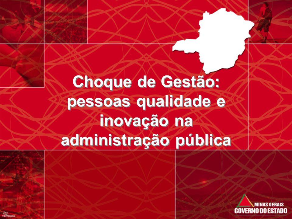 Choque de Gestão: pessoas qualidade e inovação na administração pública
