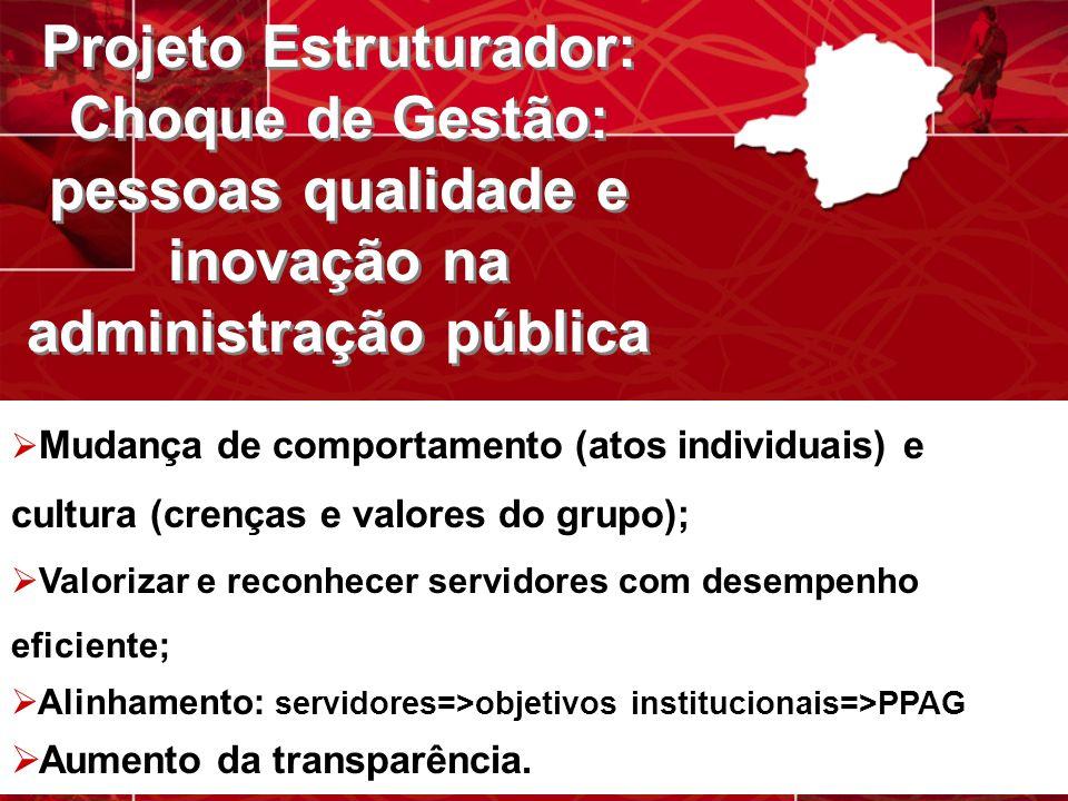 Projeto Estruturador: Choque de Gestão: pessoas qualidade e inovação na administração pública