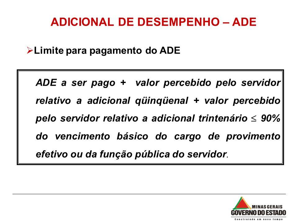 ADICIONAL DE DESEMPENHO – ADE