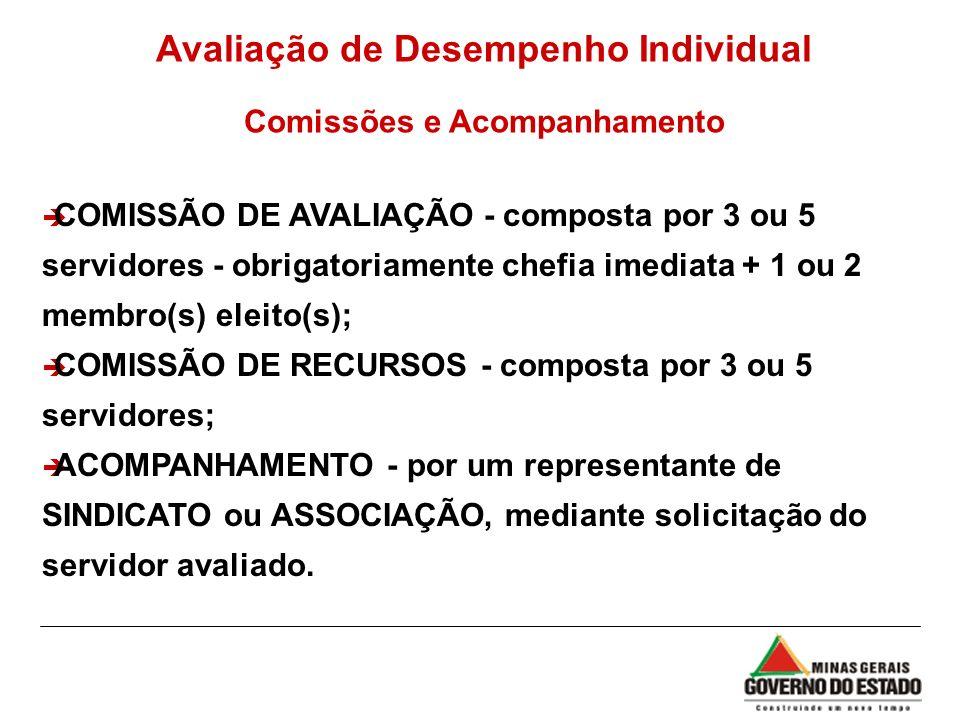 Avaliação de Desempenho Individual Comissões e Acompanhamento