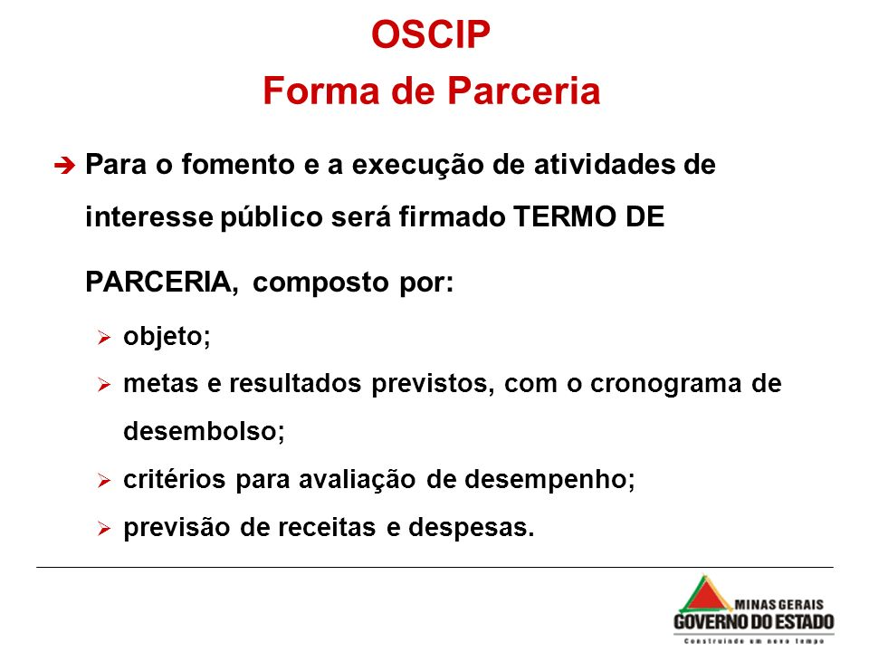 OSCIP Forma de Parceria