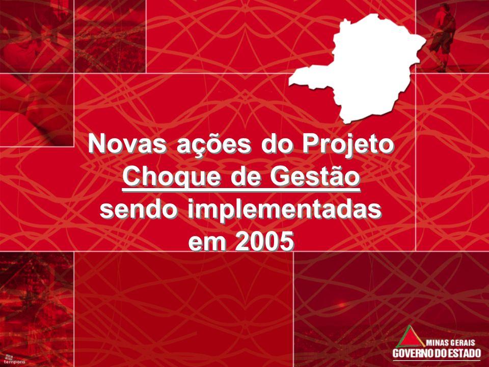 Novas ações do Projeto Choque de Gestão sendo implementadas em 2005
