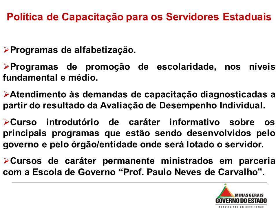 Política de Capacitação para os Servidores Estaduais
