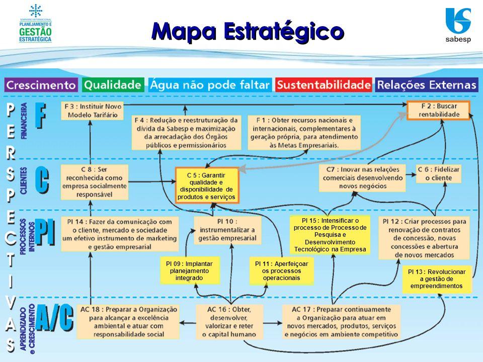 Mapa Estratégico C 5 : Garantir qualidade e disponibilidade de produtos e serviços.