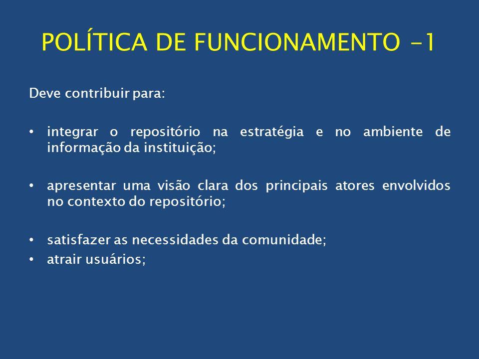 POLÍTICA DE FUNCIONAMENTO -1