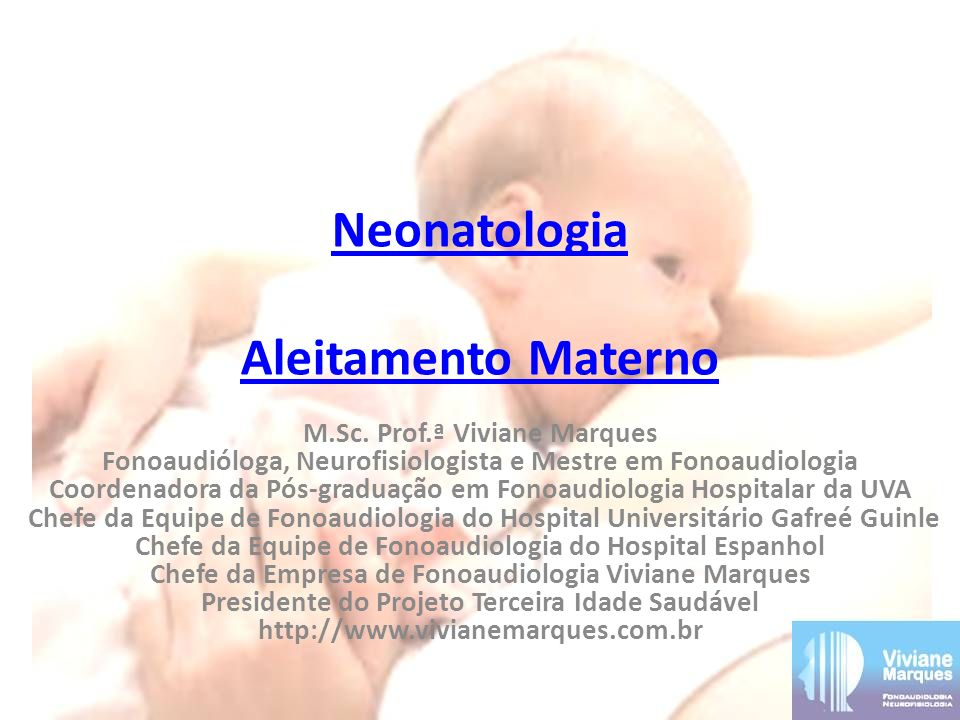 Neonatologia Aleitamento Materno