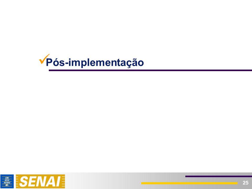 Pós-implementação – Avaliação de Impactos