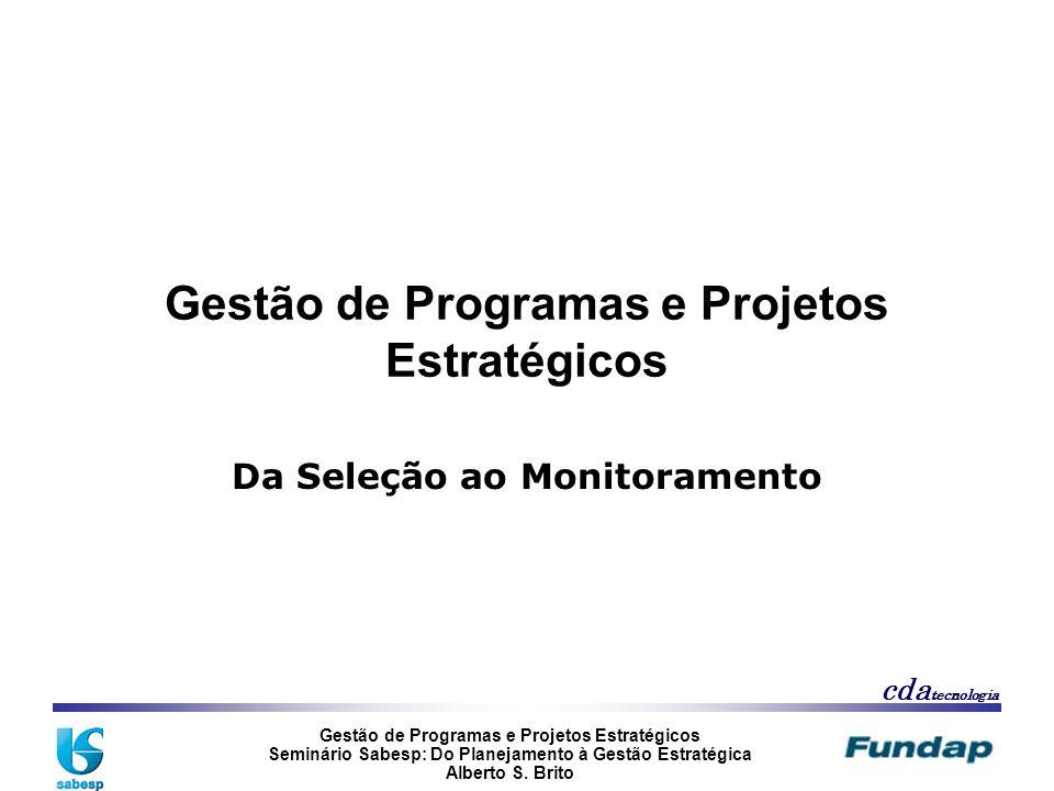 Gestão de Programas e Projetos Estratégicos