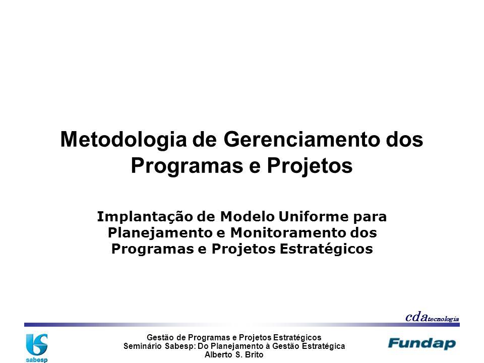 Metodologia de Gerenciamento dos Programas e Projetos