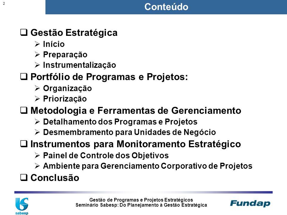 Portfólio de Programas e Projetos: