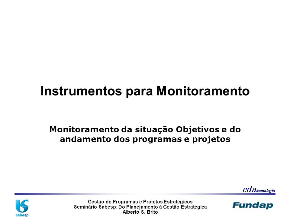 Instrumentos para Monitoramento