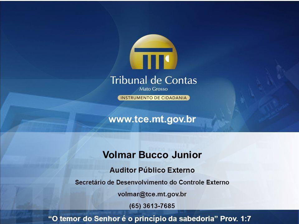 www.tce.mt.gov.br Volmar Bucco Junior