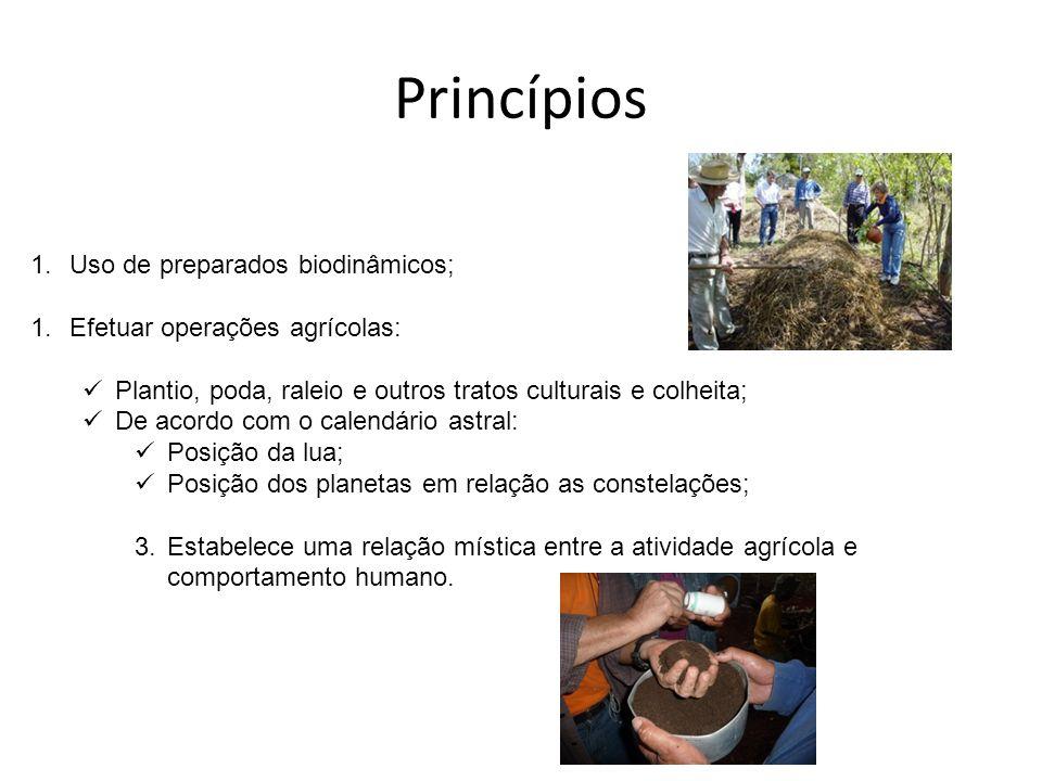 Princípios Uso de preparados biodinâmicos;