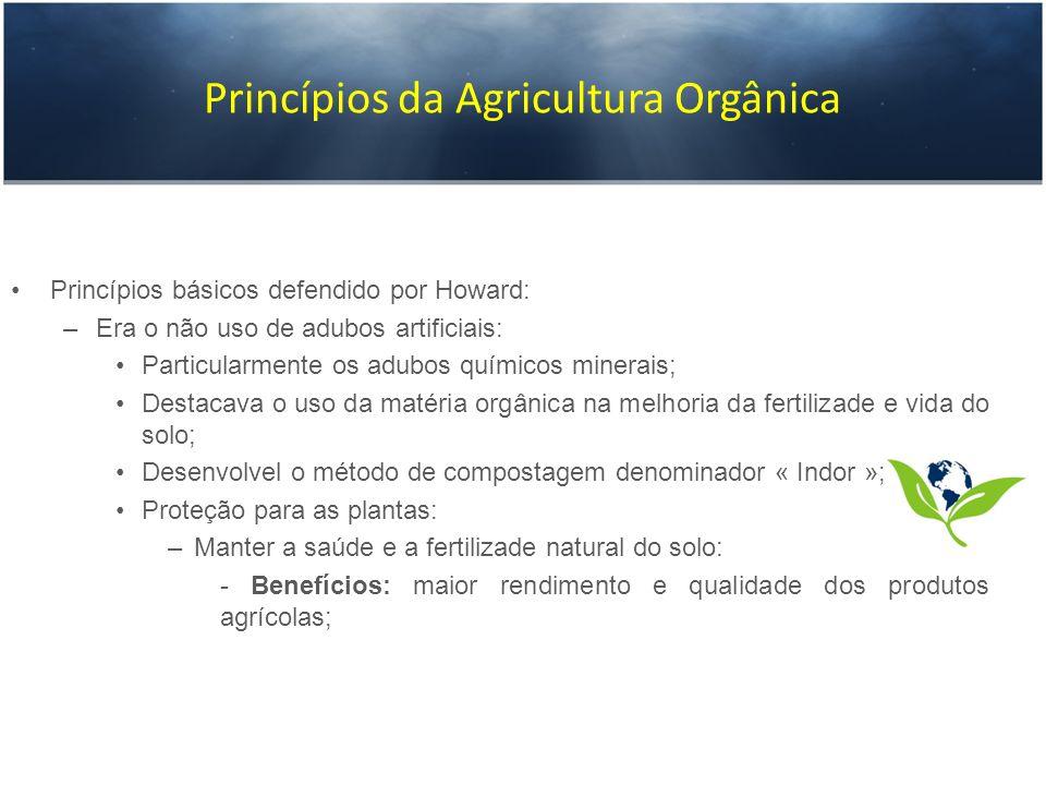 Princípios da Agricultura Orgânica
