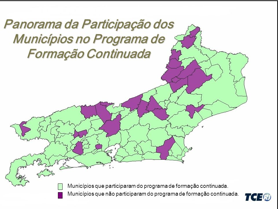 Panorama da Participação dos Municípios no Programa de Formação Continuada