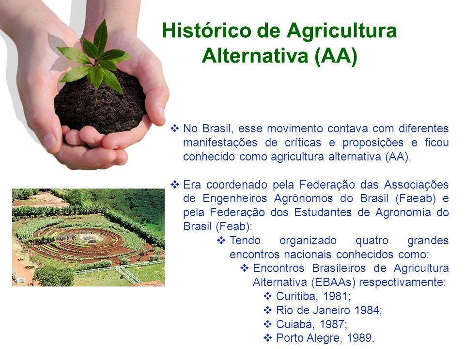 Histórico de Agricultura Alternativa (AA)