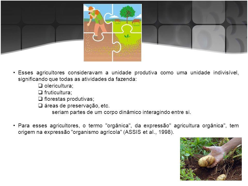 Esses agricultores consideravam a unidade produtiva como uma unidade indivisível, significando que todas as atividades da fazenda: