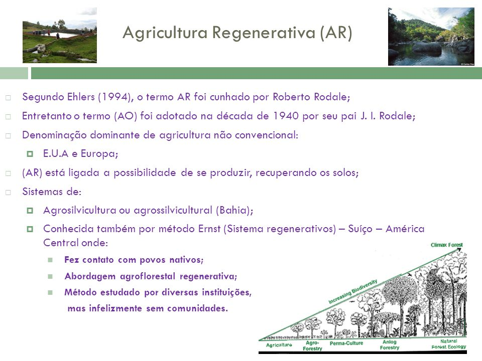 Agricultura Regenerativa (AR)