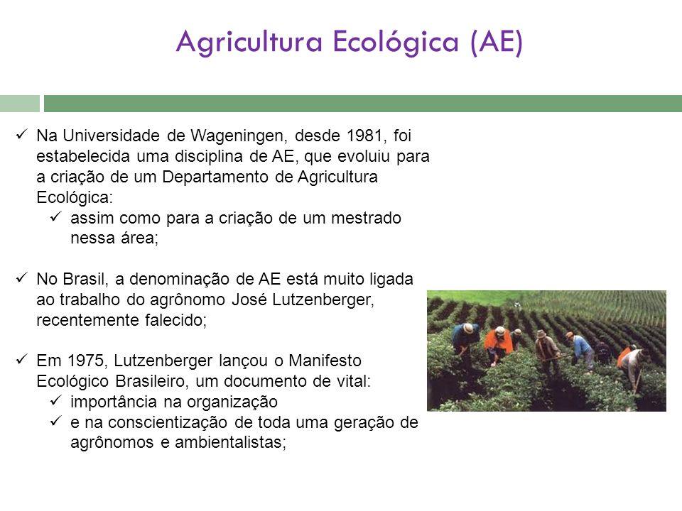 Agricultura Ecológica (AE)
