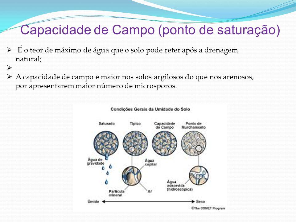 Capacidade de Campo (ponto de saturação)