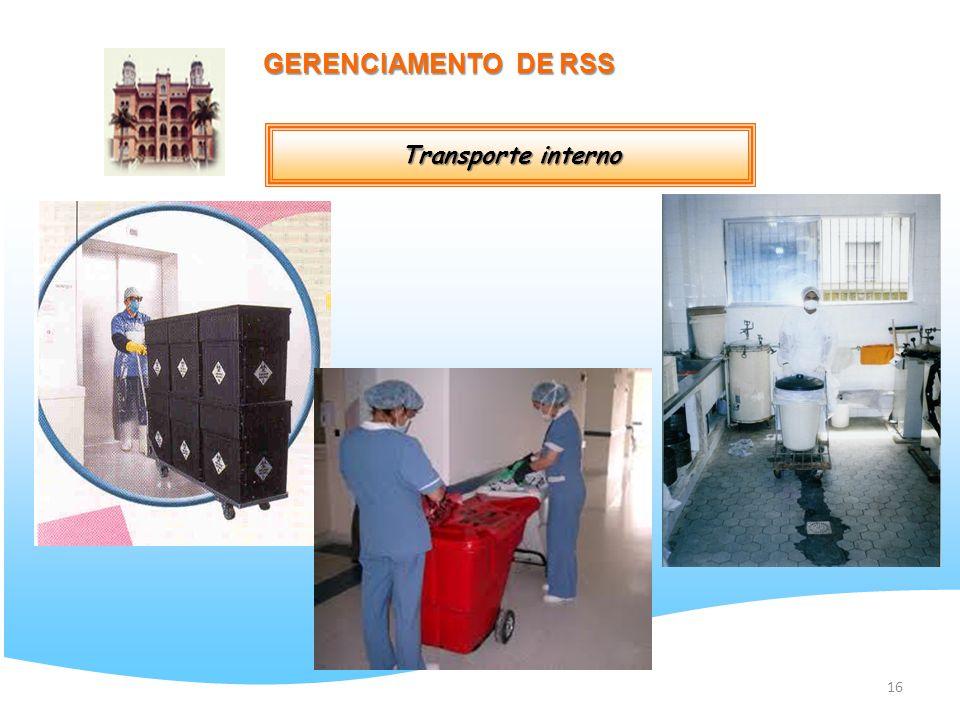 GERENCIAMENTO DE RSS Transporte interno