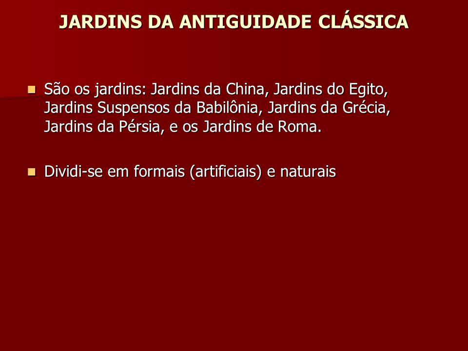 JARDINS DA ANTIGUIDADE CLÁSSICA