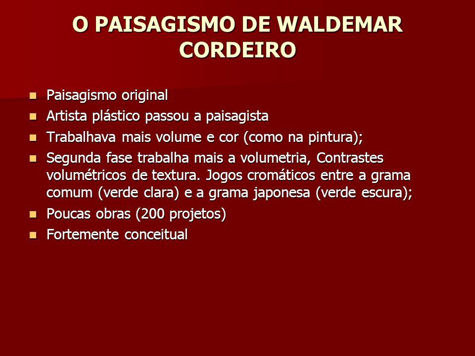 O PAISAGISMO DE WALDEMAR CORDEIRO