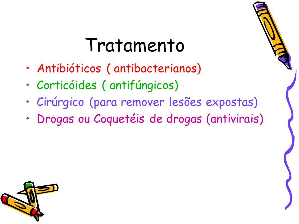 Tratamento Antibióticos ( antibacterianos) Corticóides ( antifúngicos)