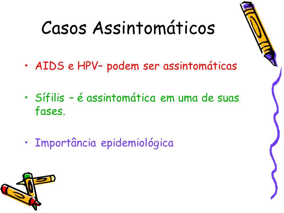 Casos Assintomáticos AIDS e HPV– podem ser assintomáticas
