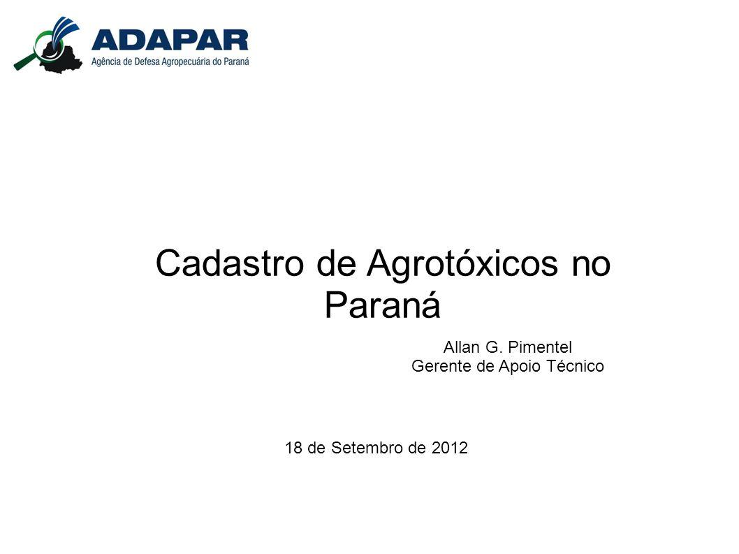 Cadastro de Agrotóxicos no Paraná
