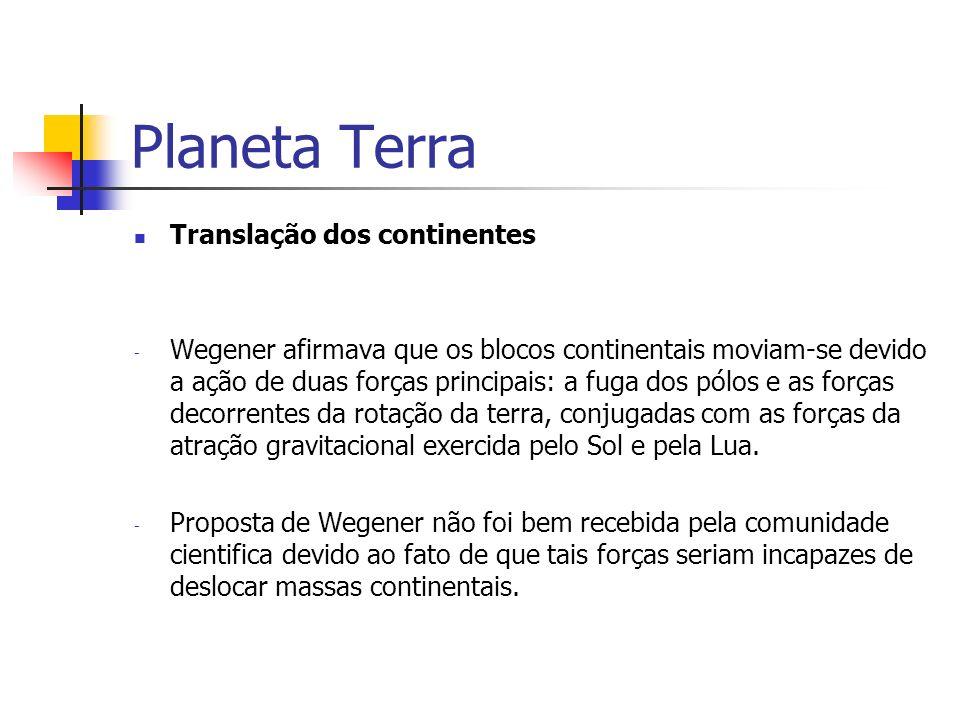 Planeta Terra Translação dos continentes