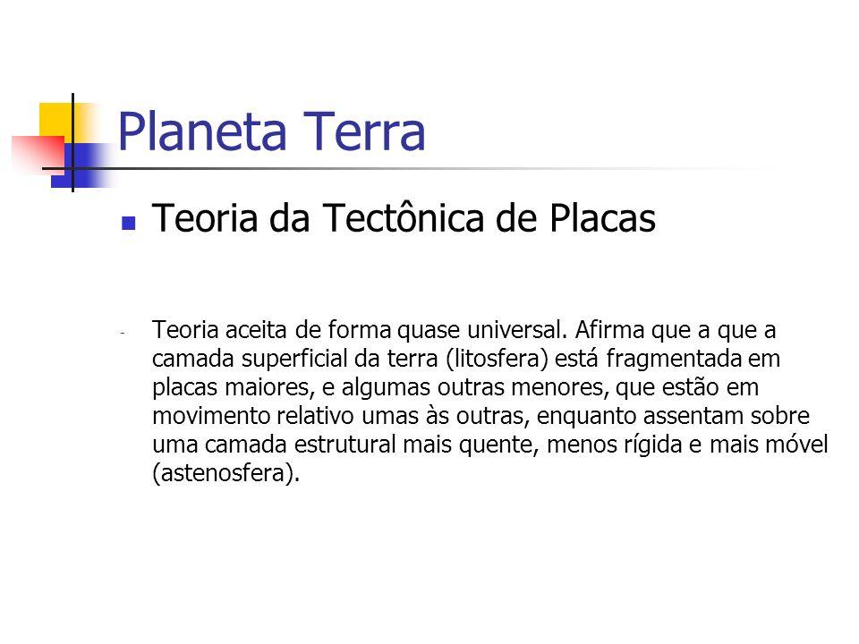 Planeta Terra Teoria da Tectônica de Placas