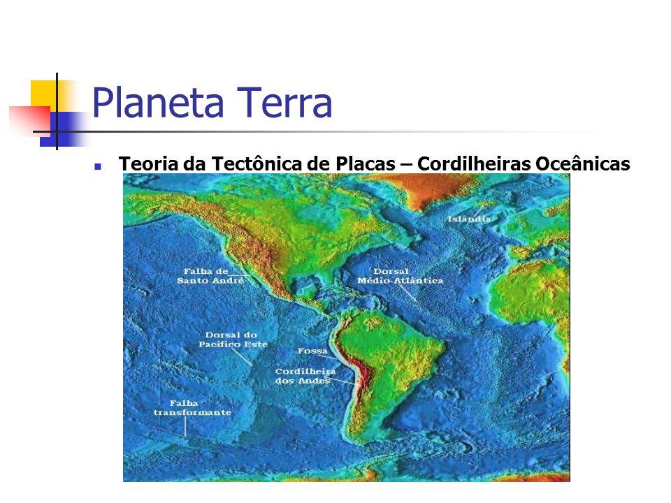 Planeta Terra Teoria da Tectônica de Placas – Cordilheiras Oceânicas