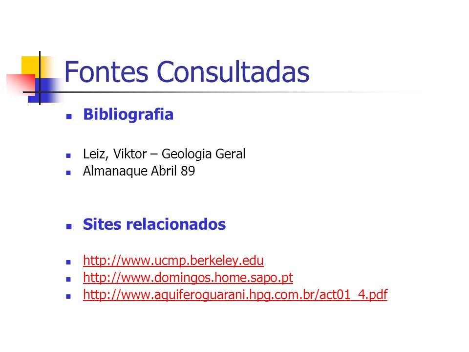 Fontes Consultadas Bibliografia Sites relacionados