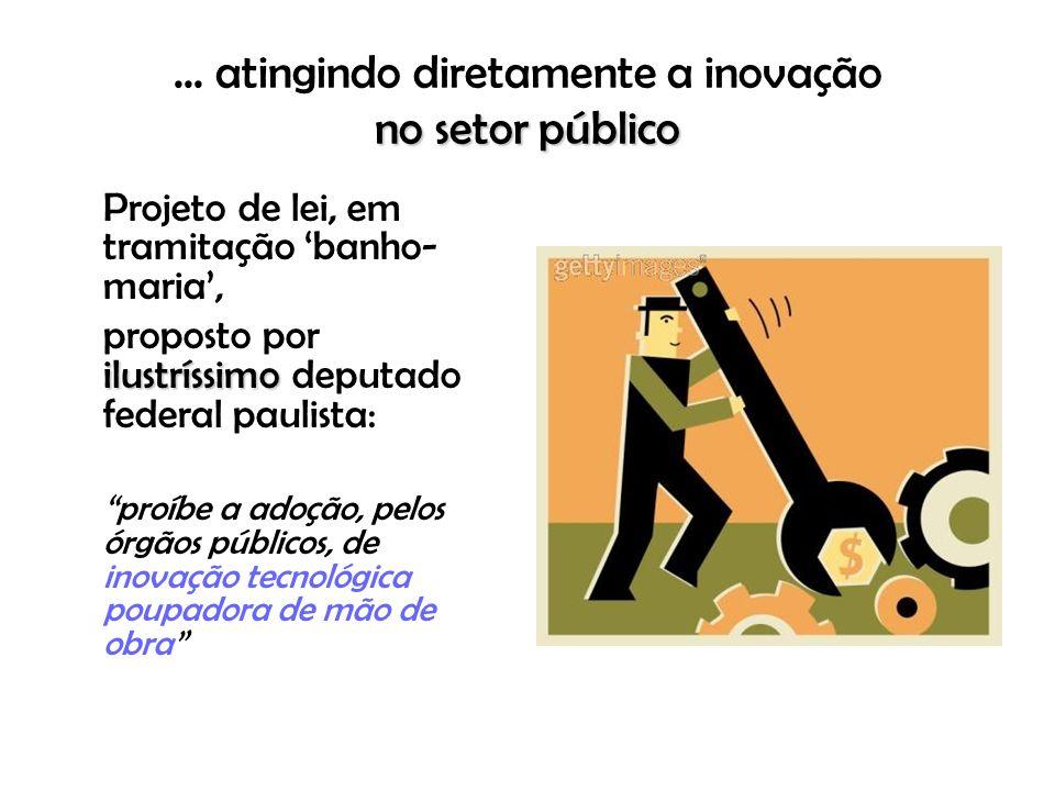 ... atingindo diretamente a inovação no setor público