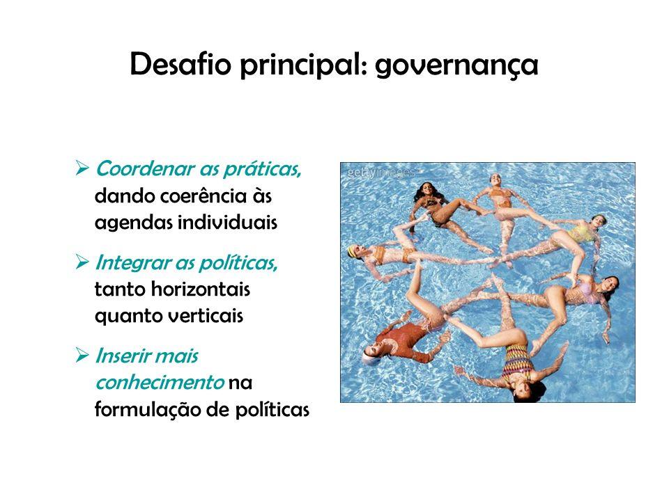 Desafio principal: governança