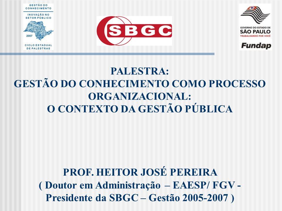 GESTÃO DO CONHECIMENTO COMO PROCESSO ORGANIZACIONAL: