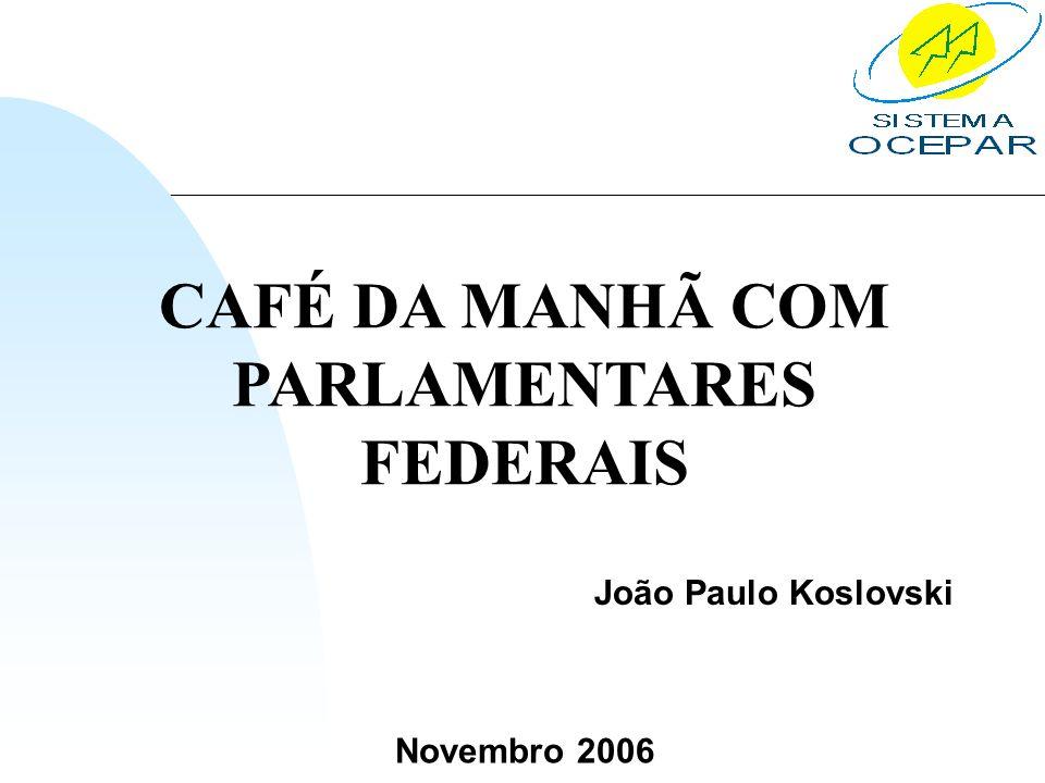 CAFÉ DA MANHÃ COM PARLAMENTARES FEDERAIS