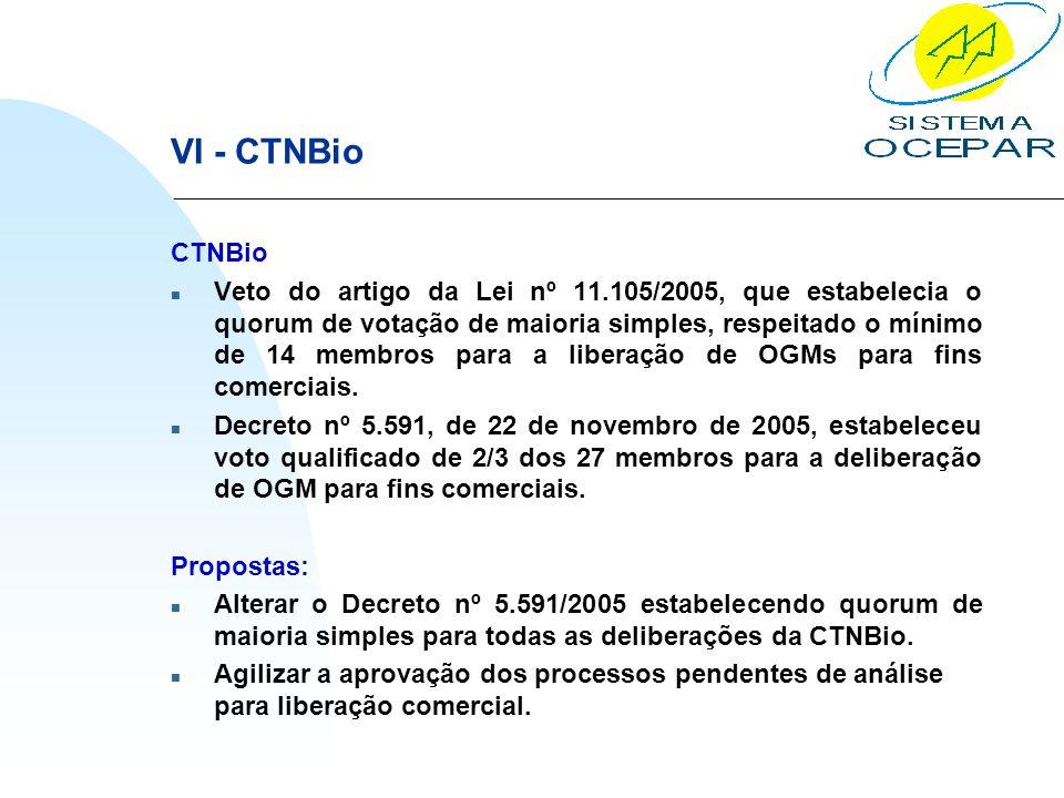 VI - CTNBio CTNBio.