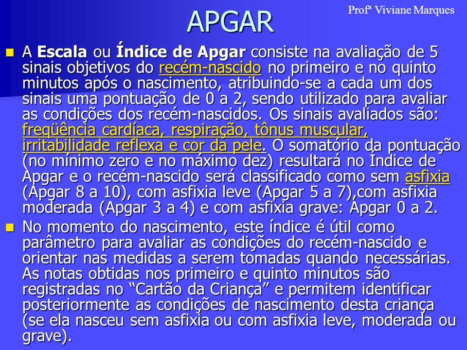 APGAR Profª Viviane Marques.