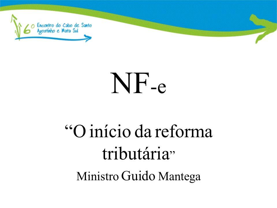 O início da reforma tributária Ministro Guido Mantega