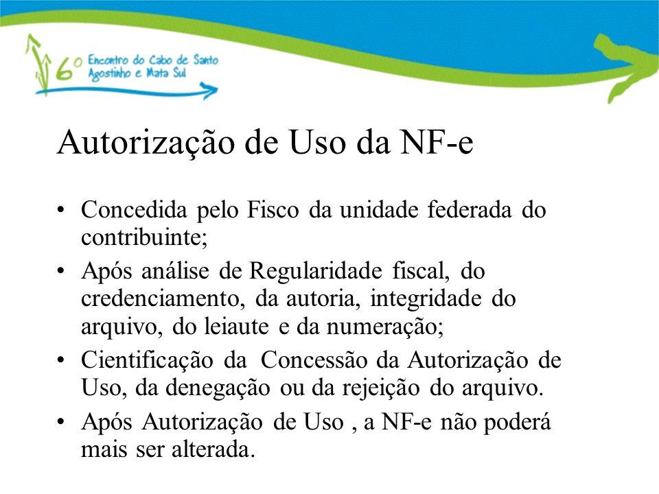 Autorização de Uso da NF-e