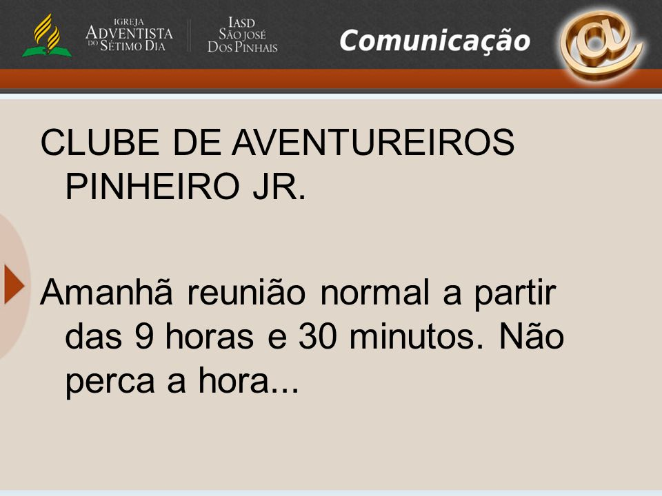 CLUBE DE AVENTUREIROS PINHEIRO JR