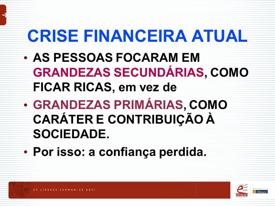 CRISE FINANCEIRA ATUAL