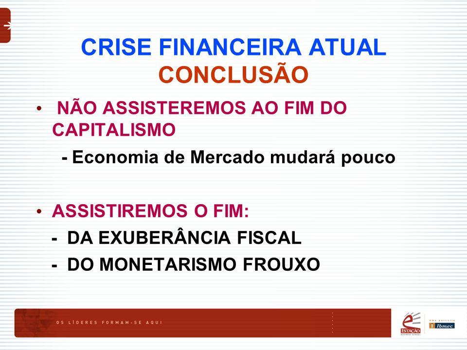 CRISE FINANCEIRA ATUAL CONCLUSÃO