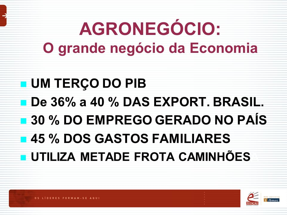 AGRONEGÓCIO: O grande negócio da Economia